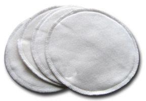 Compresses d'allaitement lavables et étanches – pqt de 6